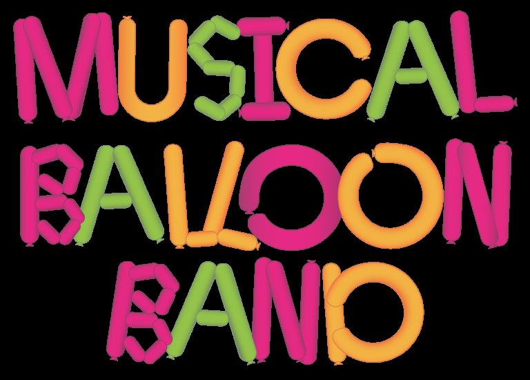 Musical Balloon Band Pink Orange Green Logo